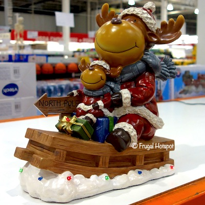 Moose Family on Sleigh Costco