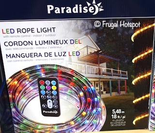 Paradise LED Color Changing 18' Rope Light Costco