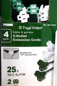 Prime Wire Extension Cord 4-Pack Costco