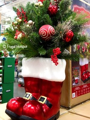 Santa Boots Holiday Arrangement Costco