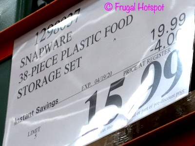 Snapware 38-Piece Plastic Food Storage Costco Sale Price
