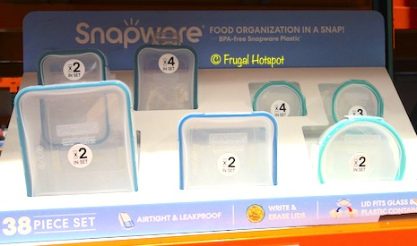 Snapware 38-Piece Plastic Food Storage Set Costco Display