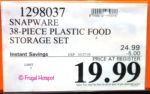 Snapware 38-Piece Plastic Food Storage Set Costco Sale Price