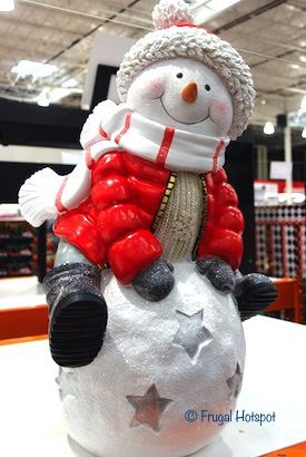 Snowman Greeter on Snowball Costco