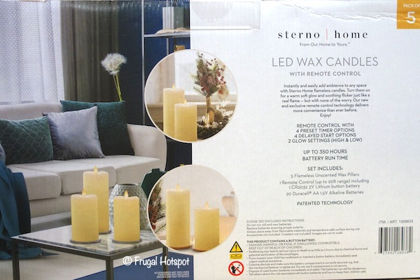 Sterno Home 5-Pc Moving Flame LED Candle Set Costco