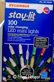 Sylvania Stay-Lit Mini Color Changing Lights 100-count Costco