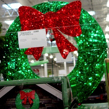 Wreath with LED Lights Costco