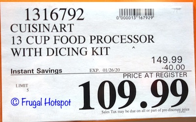 Cuisinart Elemental 13-Cup Food Processor and Dicer Costco Sale Price