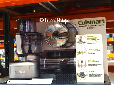 Cuisinart Elemental 13 Cup Food Processor and Dicing Kit Costco Display