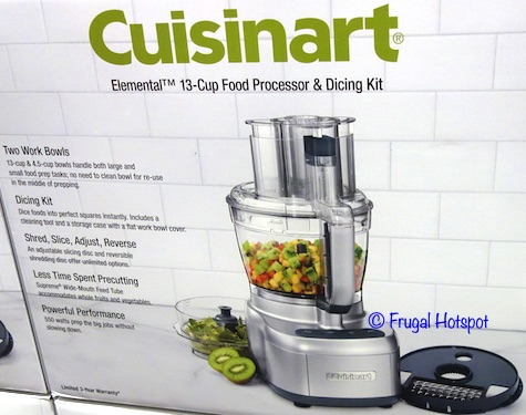 Cuisinart Elemental 13 Cup Food Processor and Dicing Kit Costco