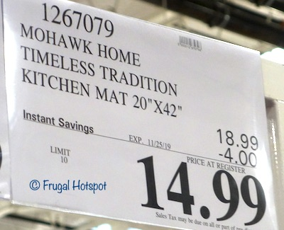 Mohawk Home Timeless Traditions Anti-Fatigue Kitchen Mat Costco Sale Price