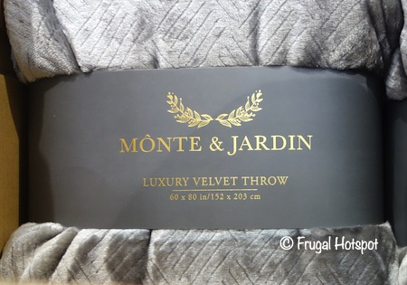 Monte & Jardin Velvet Throw Costco