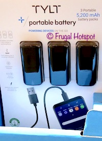 Tylt Portable Power Bank 5200mAh Costco