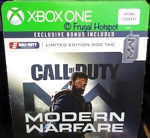 Xbox One Call of Duty Modern Warfare with Dog Tag Costco