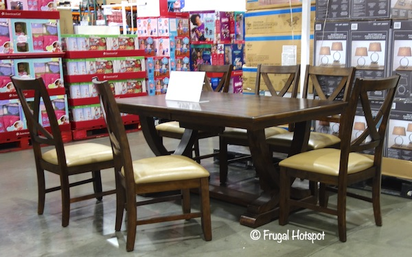 Bayside Furnishings Lakemont 7-Piece Dining Set Costco Display