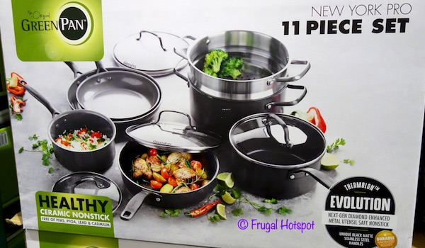GreenPan New York Pro Cookware 11-Pc Set Costco