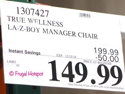 La-Z-Boy Manager Chair Costco Sale Price