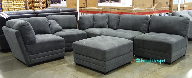 Norris Fabric Modular Sectional 6 Pc