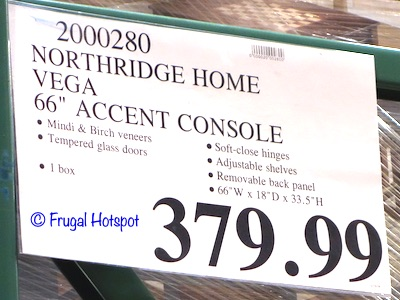 Northridge Home Vega 66 Accent Console Costco Price