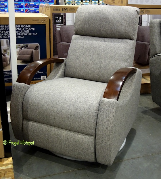 Synergy Home Fabric Power Swivel Glider Recliner Costco Display