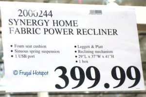 Synergy Home Fabric Power Swivel Glider Recliner Costco Price