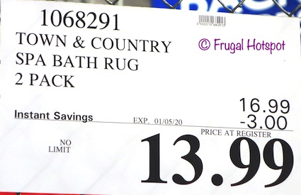 Town & Country Spa Bath Rug Costco Sale Price