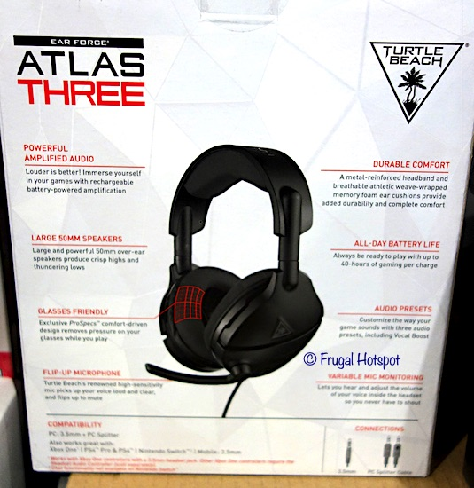 Turtle Beach Atlas Three Wired Gaming Headset Costco