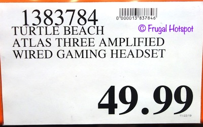 Turtle Beach Atlas Three Wired Gaming Headset Costco Price