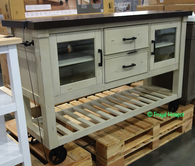 Bayside Furnishings 60 Kitchen Cart Costco Display