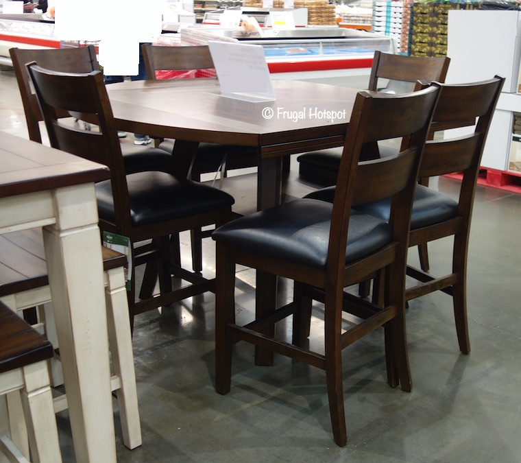 Bayside Furnishings Square to Round Dining Set 7 Pc Costco Display