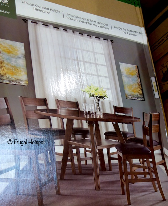 Bayside Furnishings Square to Round Dining Set 7 Pc Costco