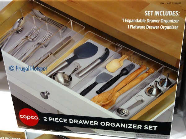 Copco Drawer Organizer 2-Piece Set Costco