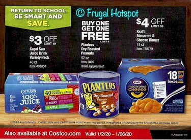 Costco JANUARY 2020 Coupon Book Back Cover