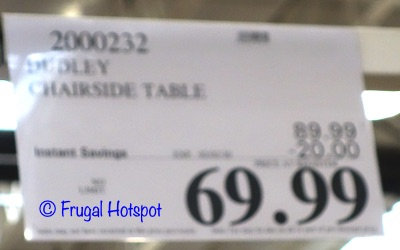 Dudley Chairside Table Costco Sale Price