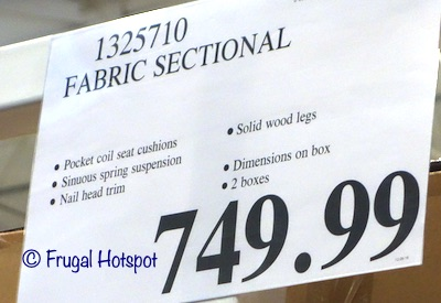 Ellendale Fabric Sectional Costco price