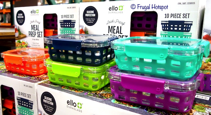 Ello Glass Meal Prep Food Storage 10-Pc Costco Display