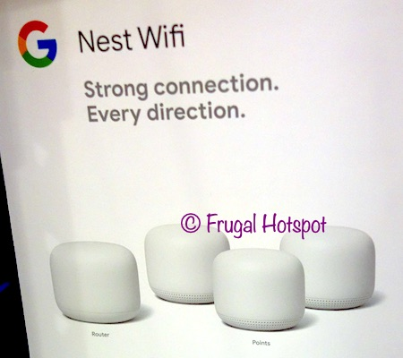 Google Nest Smart Whole Home WiFi with Google Assistant Costco