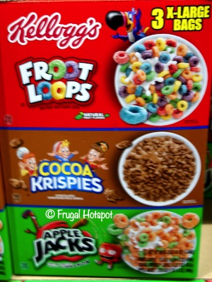 Kellogg's Cereal Froot Loops, Cocoa Krispies, Apple Jacks Costco