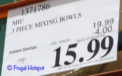 Miu Stainless Steel Mixing Bowls Costco Sale Price