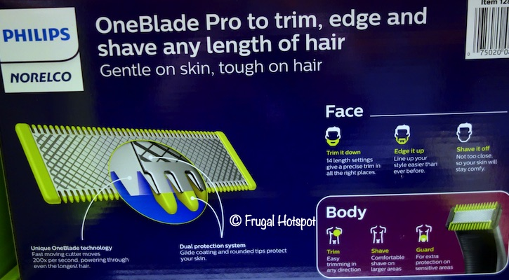 Norelco One Blade Face and Body Trimmer Costco