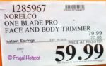 Norelco One Blade Face and Body Trimmer Costco Sale Price