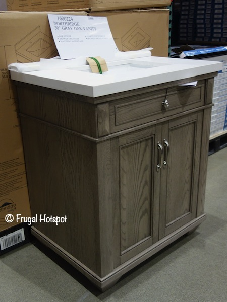 Northridge Home 30 Gray Oak Bathroom Vanity Costco Display