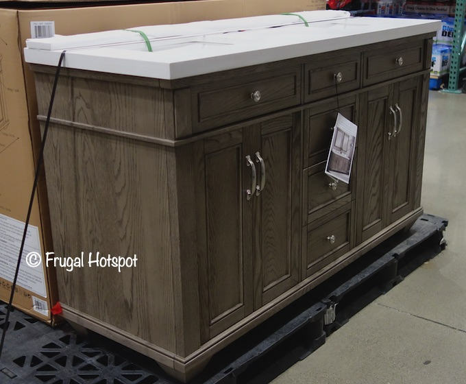 Northridge Home 60 Gray Oak Bathroom Vanity Costco Display