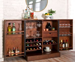 Pike & Main Amherst Chevron Bar Cabinet Costco