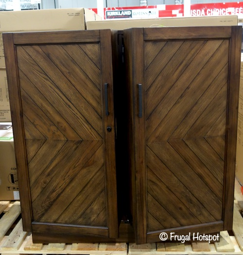 Pike & Main Amherst Chevron Bar Cabinet Costco Display