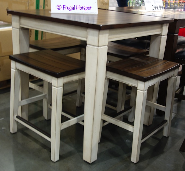 Pike & Main Gibson Counter Height Dining Set Costco Display