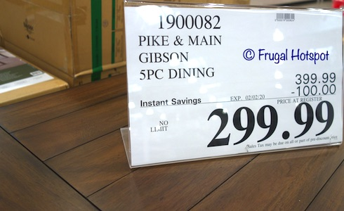 Pike & Main Gibson Counter Height Dining Set Costco Sale Price