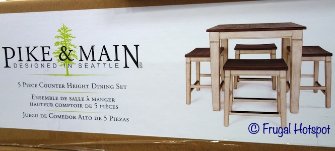 Pike & Main Gibson Counter Height Dining Set Costco