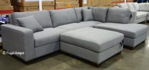 Thomasville Fabric Sectional with Ottoman Costco Display