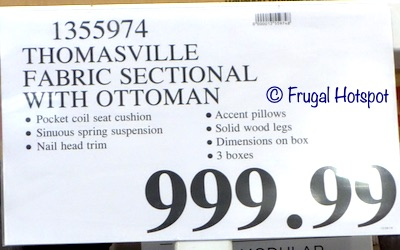 Thomasville Fabric Sectional with Ottoman Costco Price